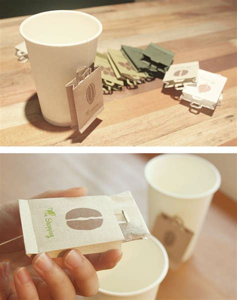 creative teabag designs  tea lovers