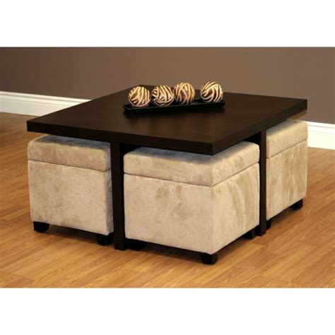 table basse avec des poufs integres ezooq