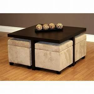 Table Basse Pouf Intégré : table basse avec pouf int gr le bois chez vous ~ Dallasstarsshop.com Idées de Décoration