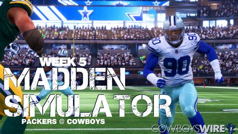 madden sim    time  cowboys packers rodeo