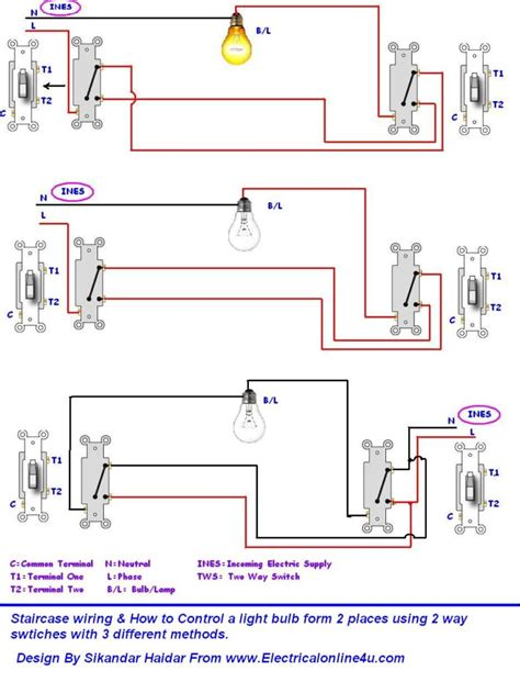3 way switch wiring diagram lights 4 way switch