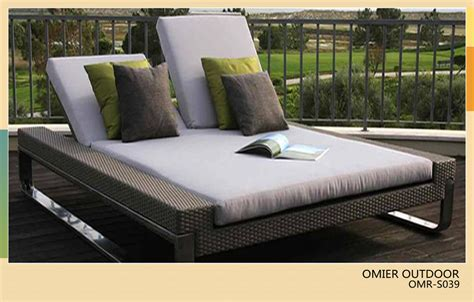 luxury modern outdoor sun bed rattan sun lounger
