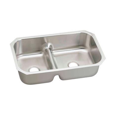 elkay stainless steel kitchen sink elkay lustertone undermount stainless steel 35 in 8865