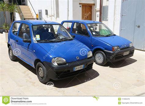 Small Fiats by Small Blue Fiats Editorial Stock Photo Image Of Italy