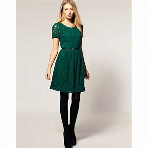 mes envies chez asos la robe verte sapin en dentelle With robe vert sapin