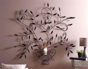 Decoration Murale Fer : deco murale arbre metal decoration vie en bois metallique ~ Melissatoandfro.com Idées de Décoration