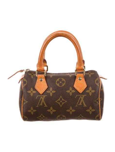 louis vuitton monogram mini speedy handbags lou  realreal