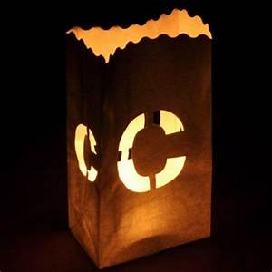 luminary candle bag individual letters letter c amazon With individual letter candles