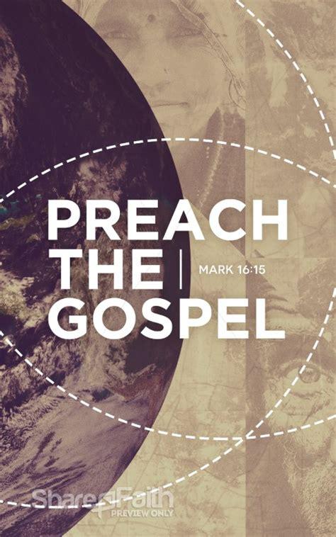 preach  gospel missions church bulletin sermon