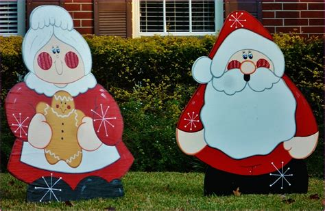 wooden christmas yard decorations festival collections