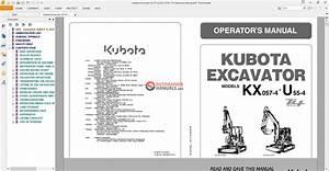 Kubota Excavator Kx 57 U55