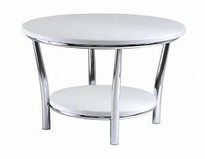 winsome maya round coffee table white top metal legs by With round coffee table with metal legs