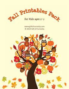 Different Cover Letters Fall Printables Pack With More Than 70 Fall Worksheets And Activities For Gift Of Curiosity