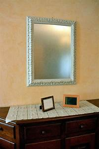 Spiegel Weiß Holzrahmen : spiegel mit holzrahmen wei lackiert 67 x 87 cm spiegel wohnaccessoires wohnkultur ~ Indierocktalk.com Haus und Dekorationen