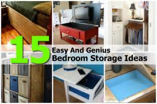bedroom storage ideas 15 easy and genius bedroom storage ideas