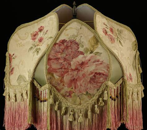 plain jane l shades victorian lavish lampshade huge roses pinks sage gold ebay