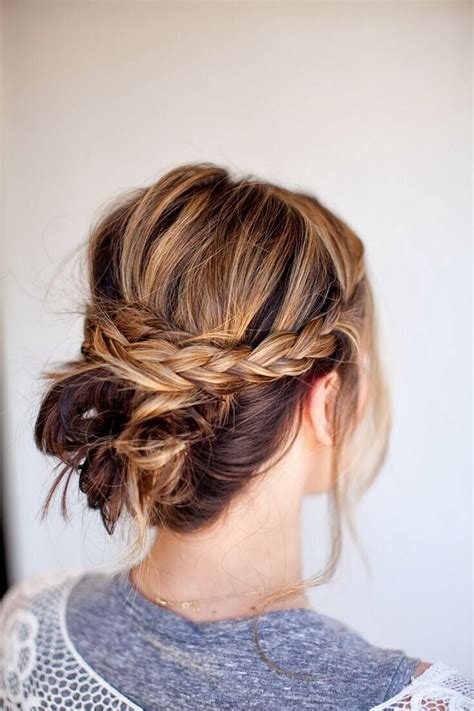 easy updo hairstyles  medium hair pretty designs