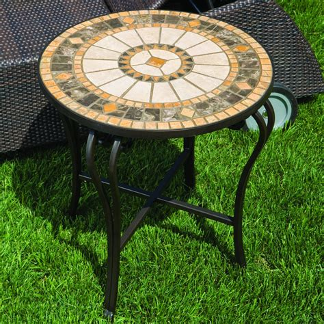 Alfresco Home Compass Mosaic Side Table  Wayfair. Standard Desk Size. Jewelry Organizers For Drawers. High Bistro Table. Cool Cheap Desks. Custom Office Desk. Mirrored Drawers. Live Edge Kitchen Table. Hot Desk London