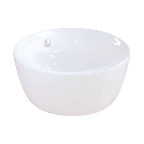 vessel sink with overflow shop elements of design dynasty white vessel round