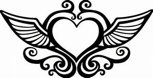 Heart With Wings Coloring Pages - GetColoringPages.com