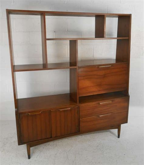 Zigzag Bookcase by Mid Century Modern Room Divider Bookcase At 1stdibs