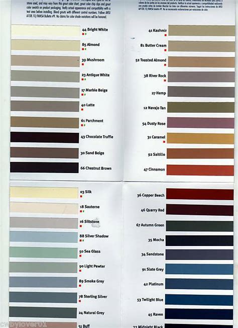 laticrete grout colors laticrete grout stains color chart 1 on popscreen