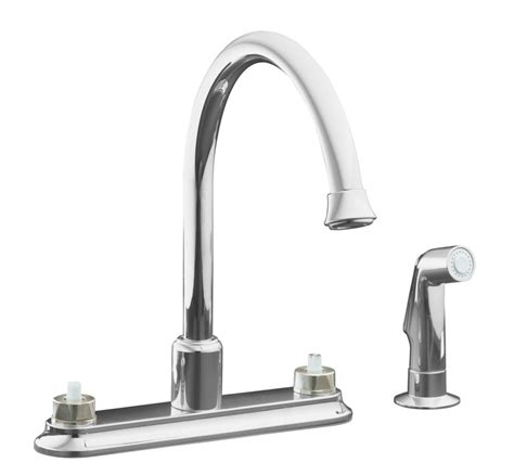 home depot sink faucets kitchen kohler coralais decorator kitchen sink faucet in polished chrome the home depot canada