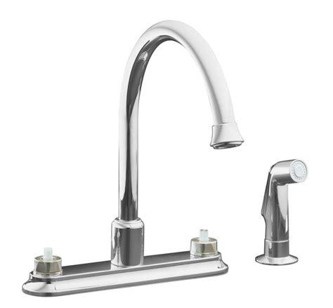 home depot kohler kitchen sinks kohler coralais decorator kitchen sink faucet in polished 7137