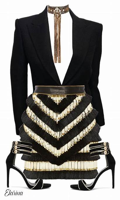 Outfits Polyvore Balmain Classy Designer Clothes Smarty
