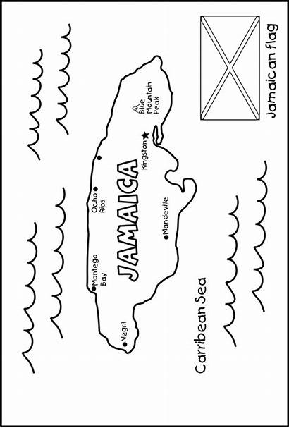 Jamaica Map Activities Jamaican Coloring Project Tell