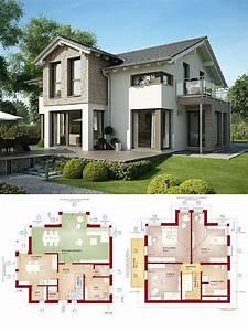 Container Anbau An Haus : einfamilienhaus modern mit satteldach architektur und erker anbau grundriss haus evolution 154 ~ Indierocktalk.com Haus und Dekorationen