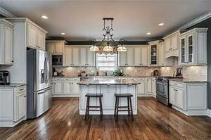 Cream colored cabinets Kitchens