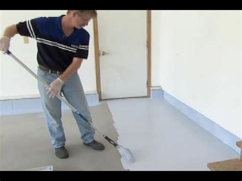 garage floor paint roller how to epoxy coat a garage floor this old house youtube