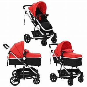 Kinderwagen Online Shop : der vidaxl 2 in 1 buggy kinderwagen aluminium rot und ~ Watch28wear.com Haus und Dekorationen