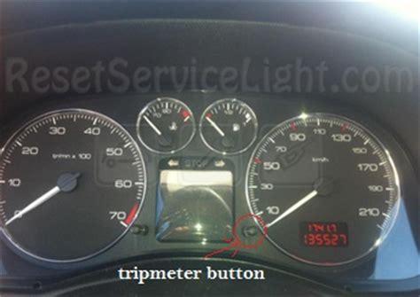 reset service light indicator peugeot  sw reset