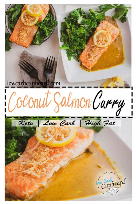 coconut salmon curry  carb keto diet meal