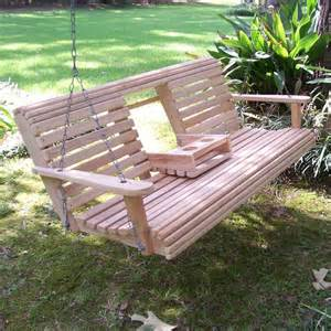 porch swings with cup holders exle pixelmari com