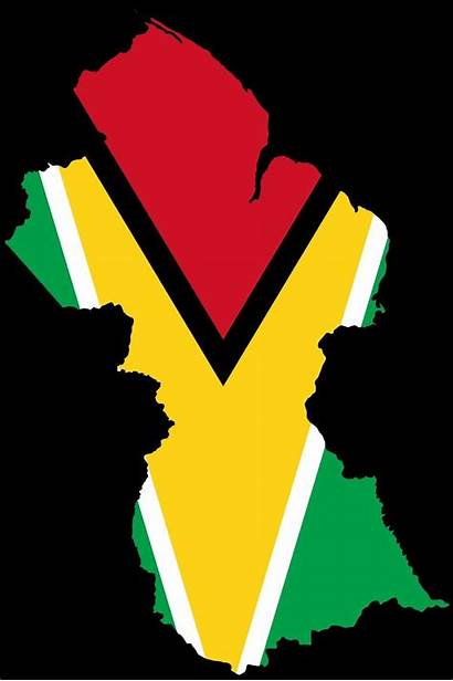 Guyana Flag Map Wallpapers Coloring Guyanese Graphics