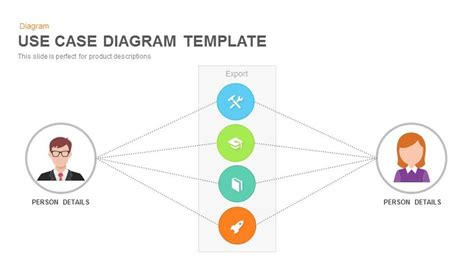 Use Case Diagram Powerpoint And Keynote Template