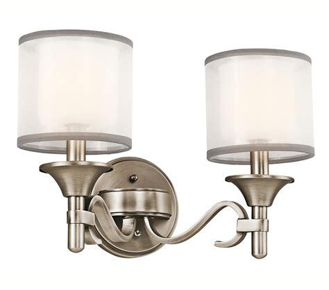 kichler vanity lights kichler 45282ap vanity light