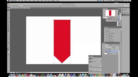 photoshop create  banner pennant shape tutorial