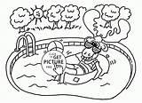 Pool Coloring Pages Summer Printables Moose Happy Designlooter 16kb 2080 sketch template