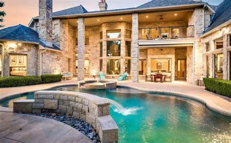 million french style stone mansion  plano tx homes   rich
