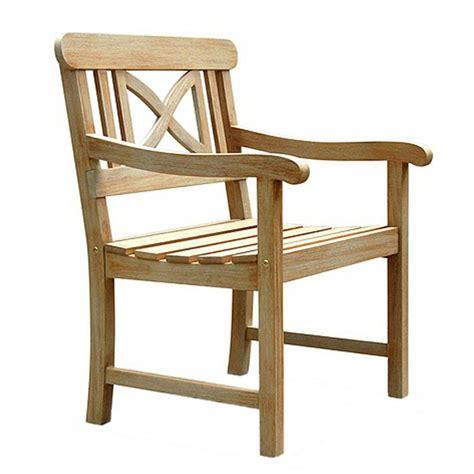 shop vifah renaissance acacia patio dining chair at lowes