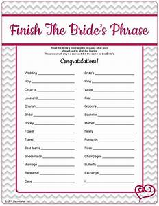 printable bridal shower games with answers video search With templates for bridal shower games