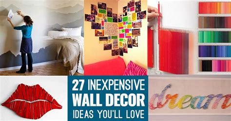 Room Decor Ideas For Cheap cool cheap but cool diy wall ideas for your walls