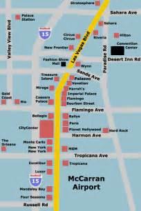 Las Vegas Strip Hotel Map