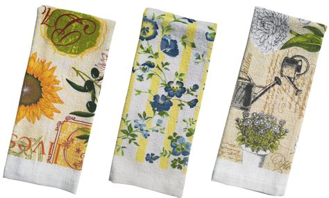 floral terry printed kitchen towel size  pack