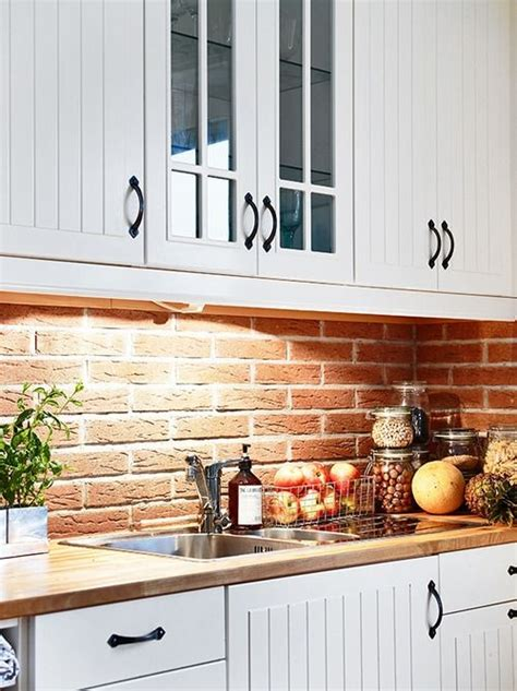 20 beautiful brick and kitchen white cabinets and wall color solutions for kitchen 20