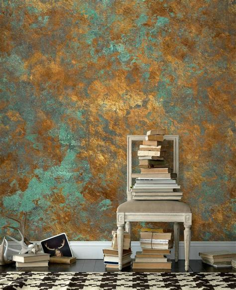 blue plaster with gold leaf love den in 2019 wall